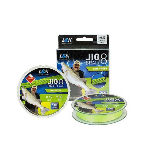 FIR L&K JIG BRAID LIME GREEN 110 M