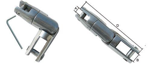 Conector pivotant din inox pentru lant