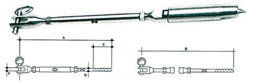 Intinzator pentru cablu din inox
