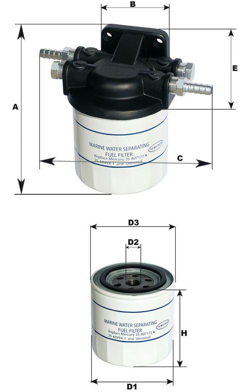 Filtru separator de apa-combustibil