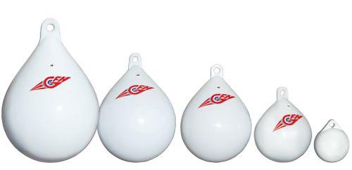 Balon de acostare rotund alb