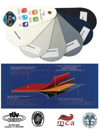 Material din neopren ORCA pentru fabricarea si repararea barcilor pneumatice din hypalon si neopren